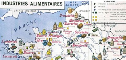 cartes des industries alimentaires