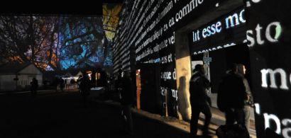 Illumination de l'esplanade de la friche de la Rodia par le Kolektif Alambik