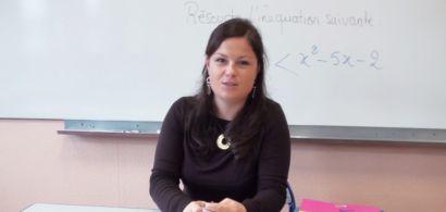 Céline professeur de mathématiques