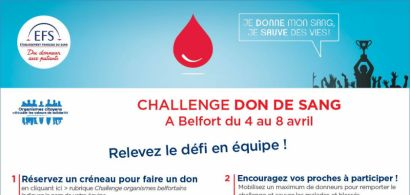 L'IUT de Belfort-Montbéliard participe au 3ème challenge du don du sang