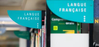 """Rayon """"langue française"""" de la médiathèque du CLA"""