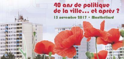 Conférence 40 ans de politique de la ville le 15 novembre 2017 à l'IUT de Belfort-Montbéliard