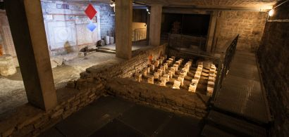 Vue des vestiges romains de la fac de Lettres