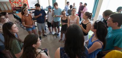 Rencontre entre étudiants texans et bisontins en 2017 à l'UFR ST