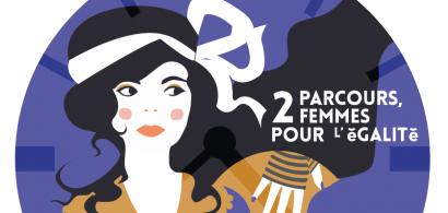 """Affiche exposition """"Olympes de Gouges et Benoite Groult"""""""