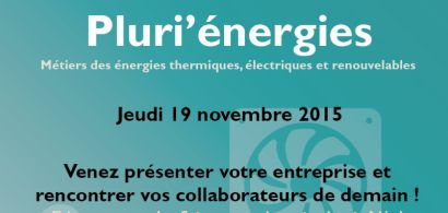 affiche de présentation pour le forum Pluri'énergies