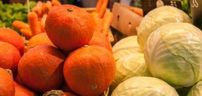 Photos de légumes dans un marché