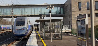 Vue de la gare Franche-Comté TGV