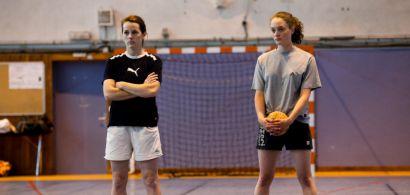 Deux joueuses de handball