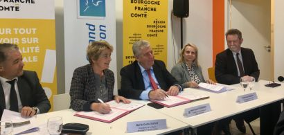 Signature du contrat de développement métropolitain entre la Région et le Grand Besançon 12_11_2018