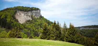 Vue d'une falaise dans le Jura