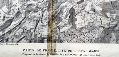 Carte ancienne de Besançon