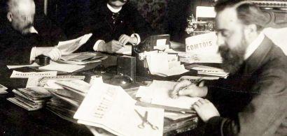 Rédaction du journal le Petit comtois dans les années 30