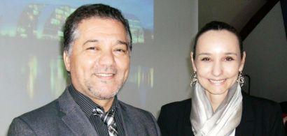 Visage du président de l'Université avec la nouvelle directrice du CLA.