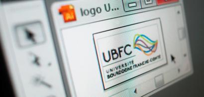 Logo de l'UBFC dans le logiciel Illustrator