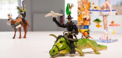 Sculptures de Marcellin Brissoni réalisées à partir de jouets.