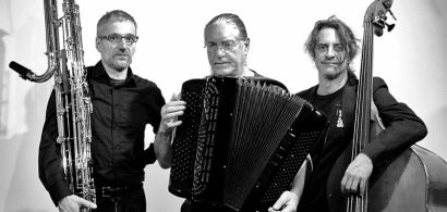 Ugo Boscain, Fred Marty et Claude Parle, musiciens