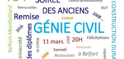 Soirée des anciens étudiants du département Génie Civil - Construction Durable de l'IUT de Belfort-Montbéliard