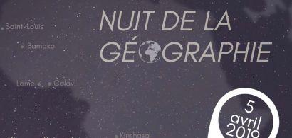 Affiche Nuit de la géographie 2019