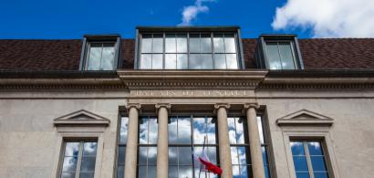 Vue de la façade d'un Palais de Justice