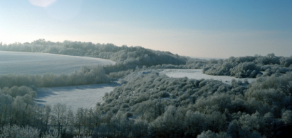 Paysage sous la neige