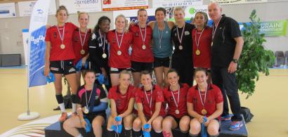 Photo de l'équipe féminine ASUFC championne de France