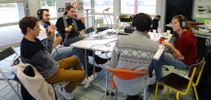 Plateau radio à la Maison des étudiants de Montbéliard lors de la journée portes ouvertes