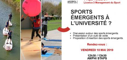 Sports émergents à l'Université