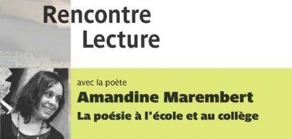 Affiche de la rencontre avec Amandine Marembert