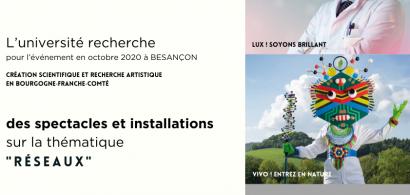 des spectacles et installations  pour l'évènement à Besançon en octobre 2020