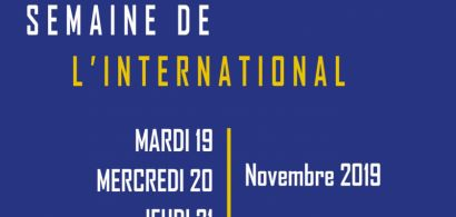 Affiche Semaine de l'international