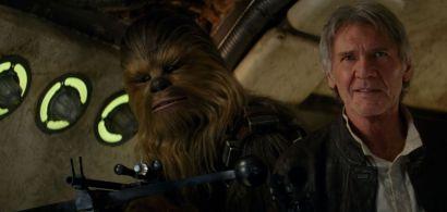 """Han Solo et Chewbacca. Image tirée de """"Star Wars: le Réveil de la force"""""""