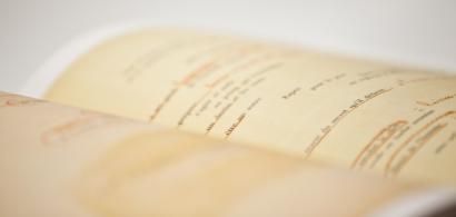 Texte dans un livre