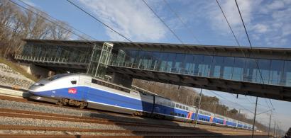 TGV en gare de Besançon Franche-Comté