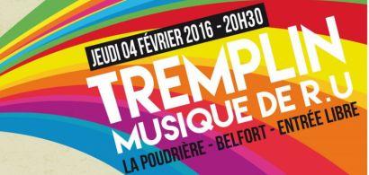 """Visuel de la finale du tremplin """"Musiques de RU"""""""