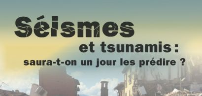 Affiche conférence séismes et tsunamis