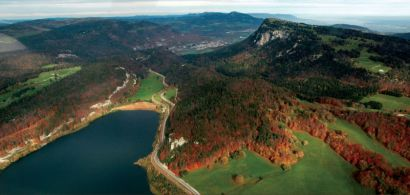 Vue aérienne du Jura