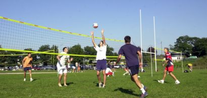 Match de volley sur le campus de la Bouloie