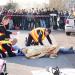 Simulation de prise en charge d'un accident par les pompiers