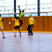 Match de handball dans un gymnase de l'université