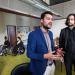 Cyril Billod et Aiman Dilou. En arrière plan des étudiants en fauteuil roulant