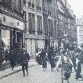 Rue commerçante de Besançon au 19ème siècle