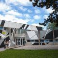 Les réalisations de bien urbain sur un bâtiment du CROUS sur le campus de la Bouloie.