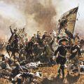 Frédéric le Grand à la bataille de Zorndorf, peinture de Carl Röchling